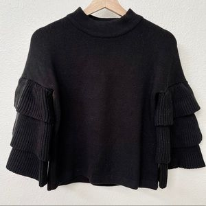 NWOT Ruffled Sleeve Sweater
